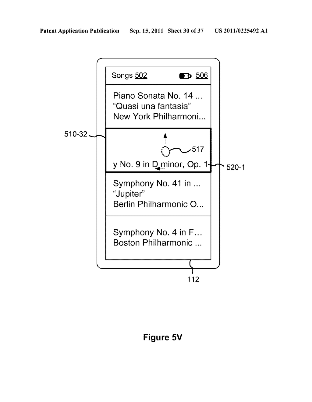 Device, Method, and Graphical User Interface for Marquee Scrolling within     a Display Area - diagram, schematic, and image 31