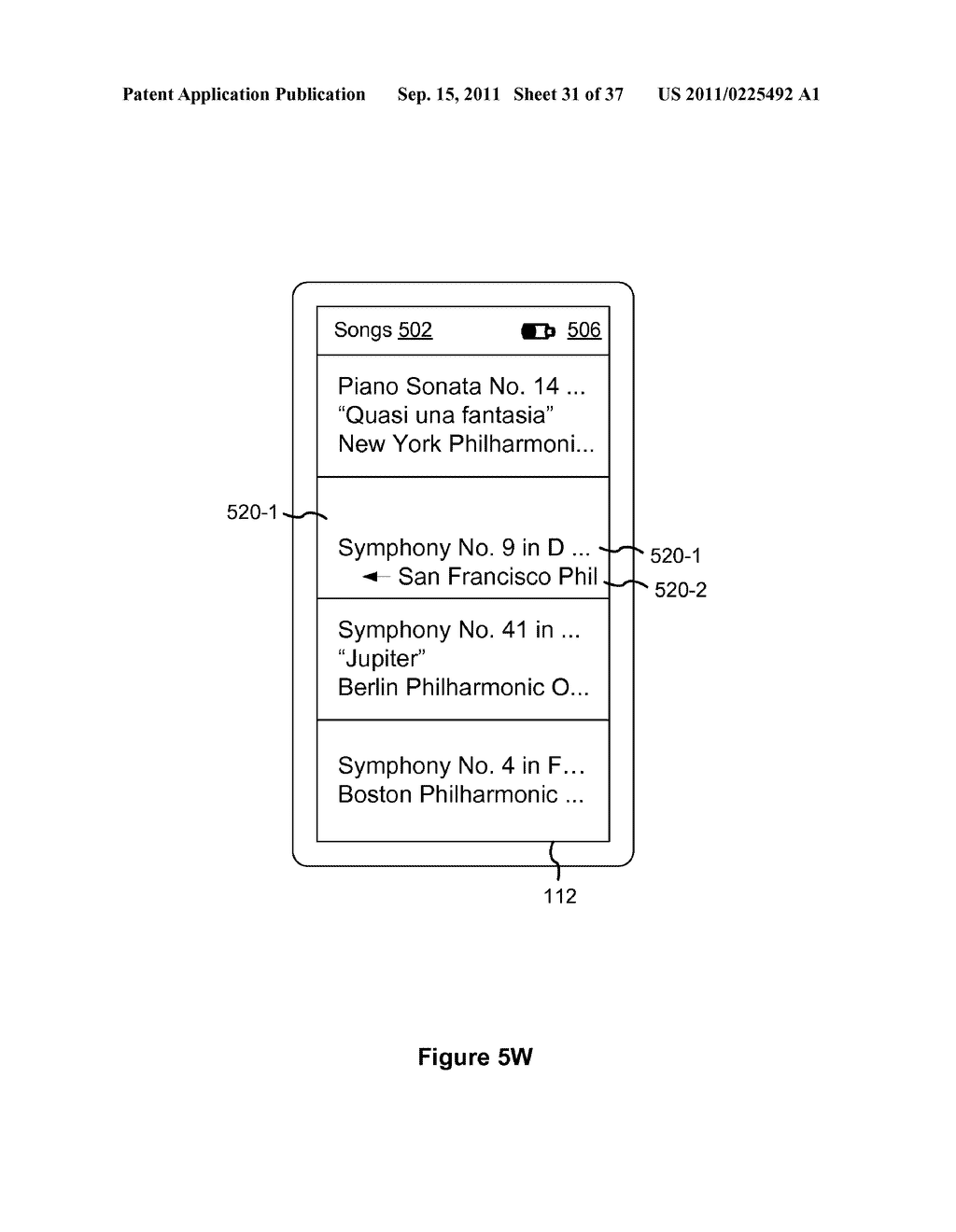 Device, Method, and Graphical User Interface for Marquee Scrolling within     a Display Area - diagram, schematic, and image 32