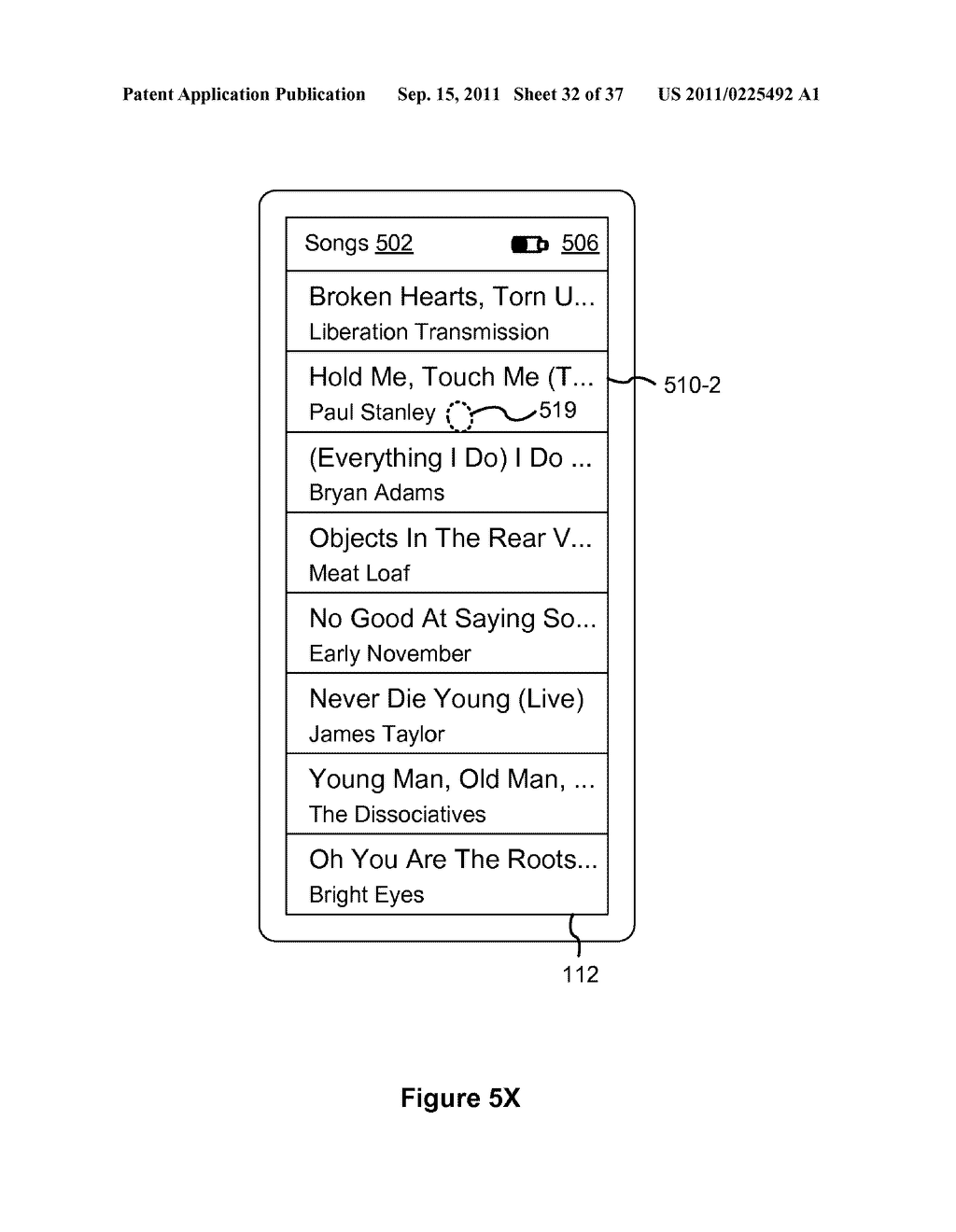 Device, Method, and Graphical User Interface for Marquee Scrolling within     a Display Area - diagram, schematic, and image 33