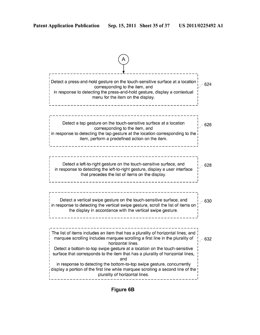 Device, Method, and Graphical User Interface for Marquee Scrolling within     a Display Area - diagram, schematic, and image 36