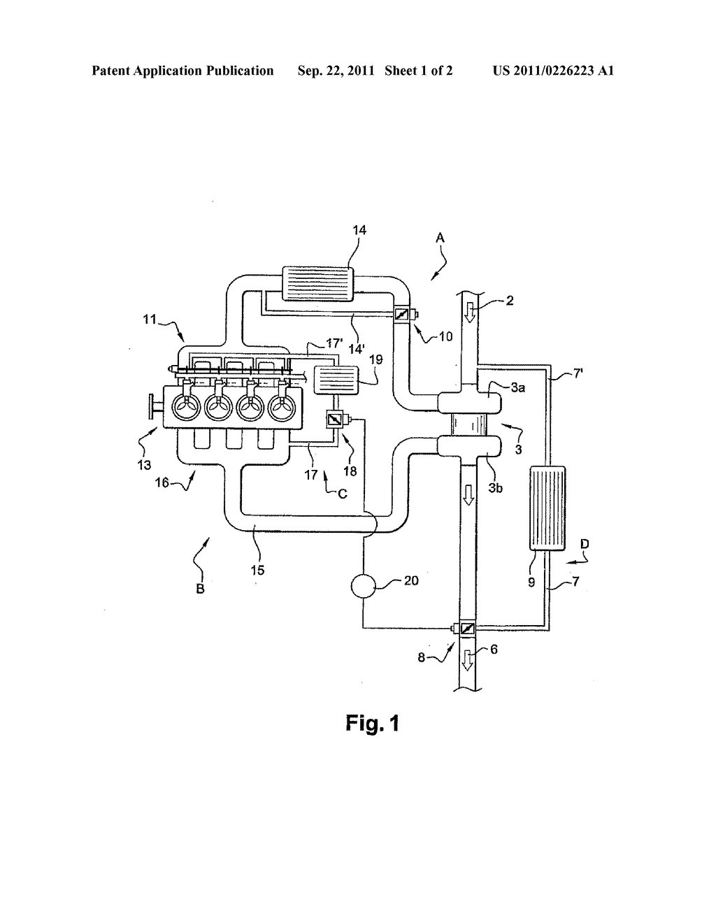 INTERNAL COMBUSTION HEAT ENGINE, CONTROL SYSTEM, METHOD FOR DIMENSIONING  THE ENGINE, AND AUTOMOBILE WITH SAID ENGINE - diagram, schematic, and image  02