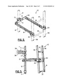 ADJUSTABLE SCAFFOLD LADDER BRACKET APPARATUS diagram and image
