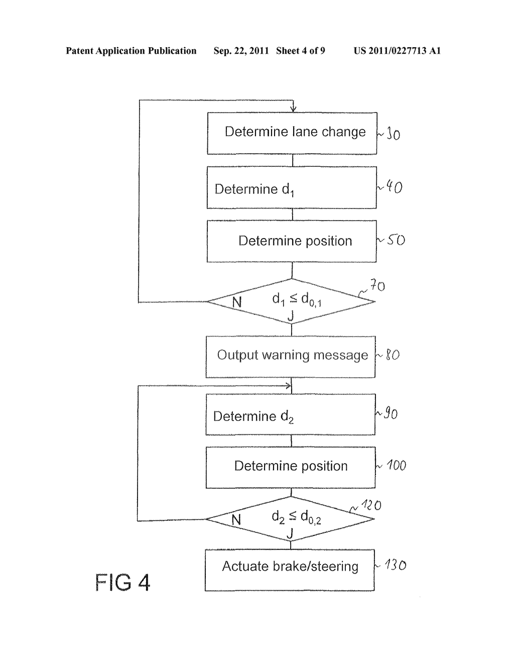 Method for the avoidance or mitigation of a collision, control apparatus     for a driver Assistance system and vehicle - diagram, schematic, and image 05
