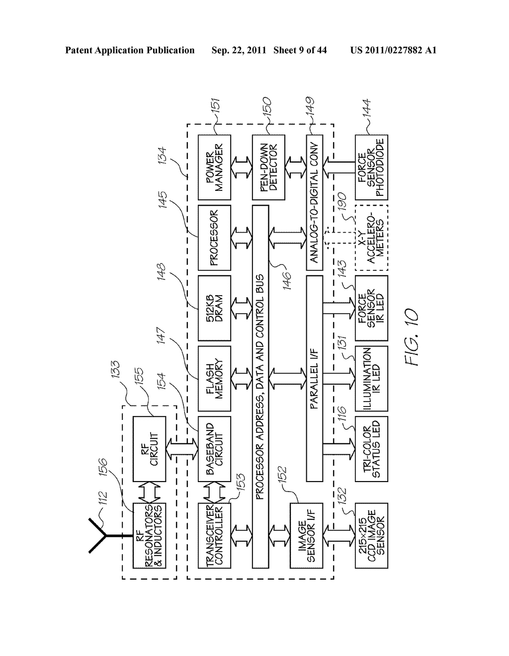 SENSING DEVICE FOR SENSING CODED DATA ON SURFACE - diagram, schematic, and image 10