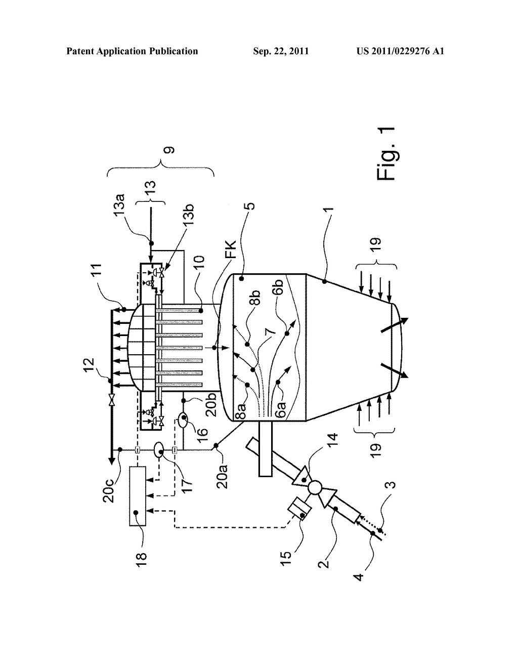 METHOD AND APPARATUS FOR SEPARATING PARTICULATE SOLIDS FROM A GAS STREAM - diagram, schematic, and image 02