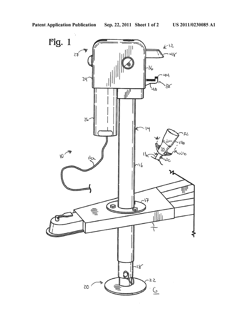 Trailer Jack With Electrical Plug Storage Diagram Schematic And Image 02