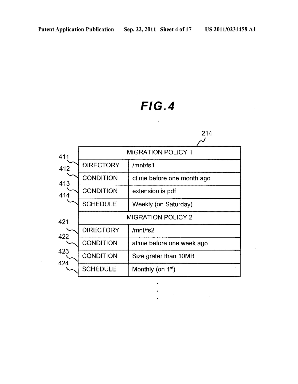 FILE LEVEL HIERARCHICAL STORAGE MANAGEMENT SYSTEM, METHOD, AND APPARATUS - diagram, schematic, and image 05