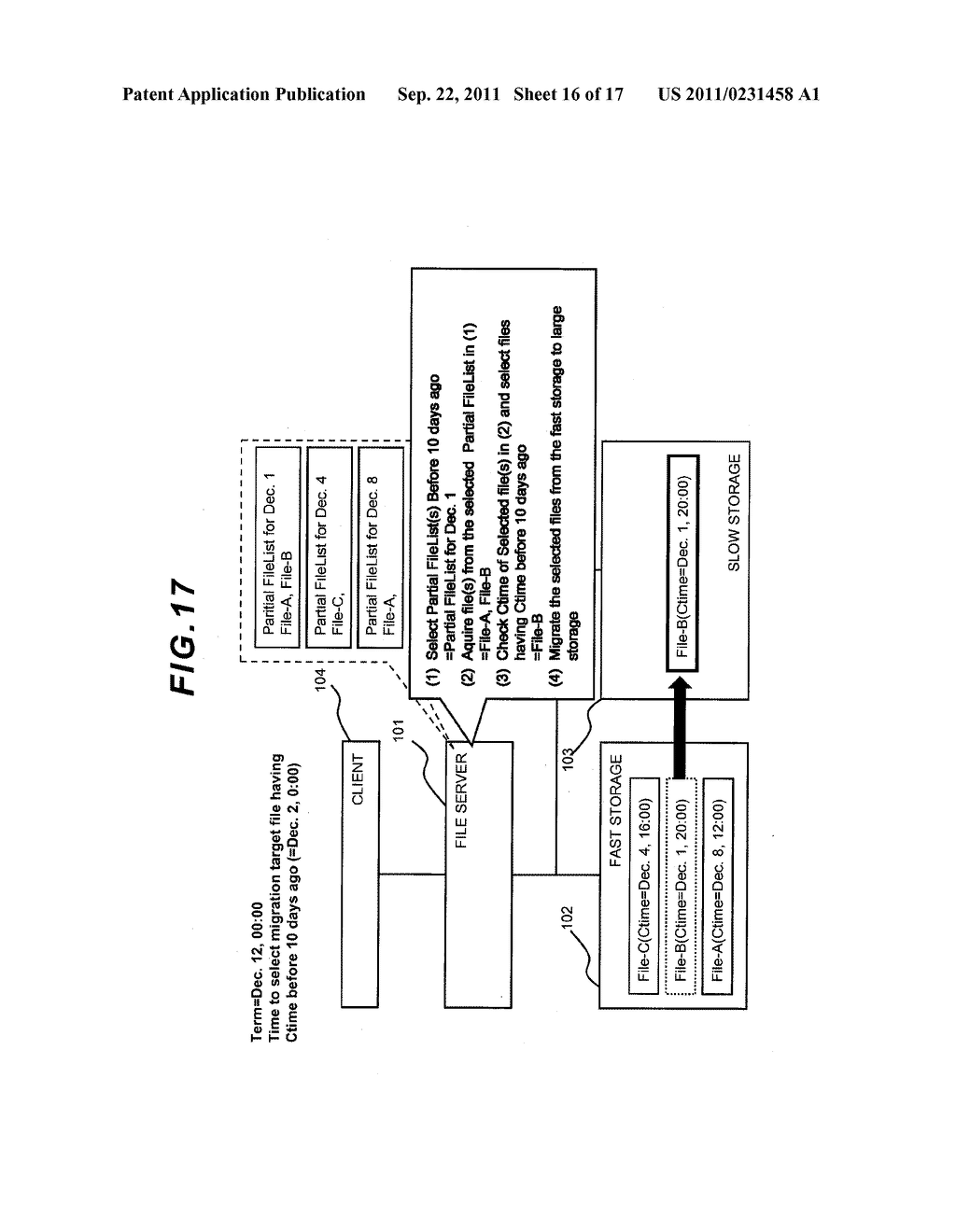 FILE LEVEL HIERARCHICAL STORAGE MANAGEMENT SYSTEM, METHOD, AND APPARATUS - diagram, schematic, and image 17