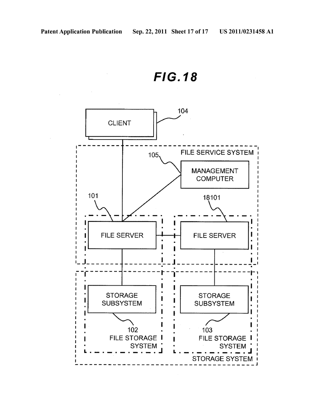 FILE LEVEL HIERARCHICAL STORAGE MANAGEMENT SYSTEM, METHOD, AND APPARATUS - diagram, schematic, and image 18