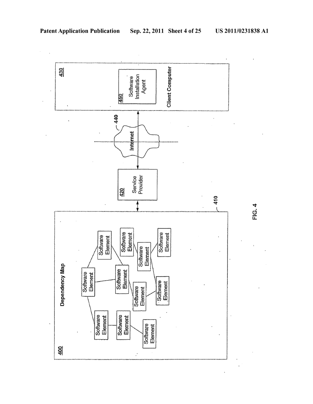 APPARATUS AND METHOD FOR INSTALLING SOFTWARE USING A SOFTWARE DEPENDENCY     MAP - diagram, schematic, and image 05