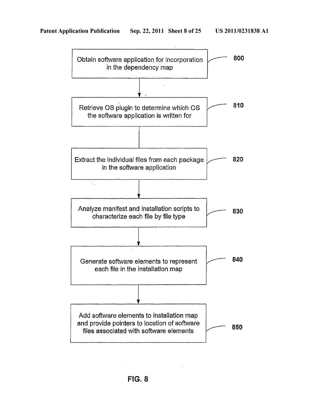 APPARATUS AND METHOD FOR INSTALLING SOFTWARE USING A SOFTWARE DEPENDENCY     MAP - diagram, schematic, and image 09