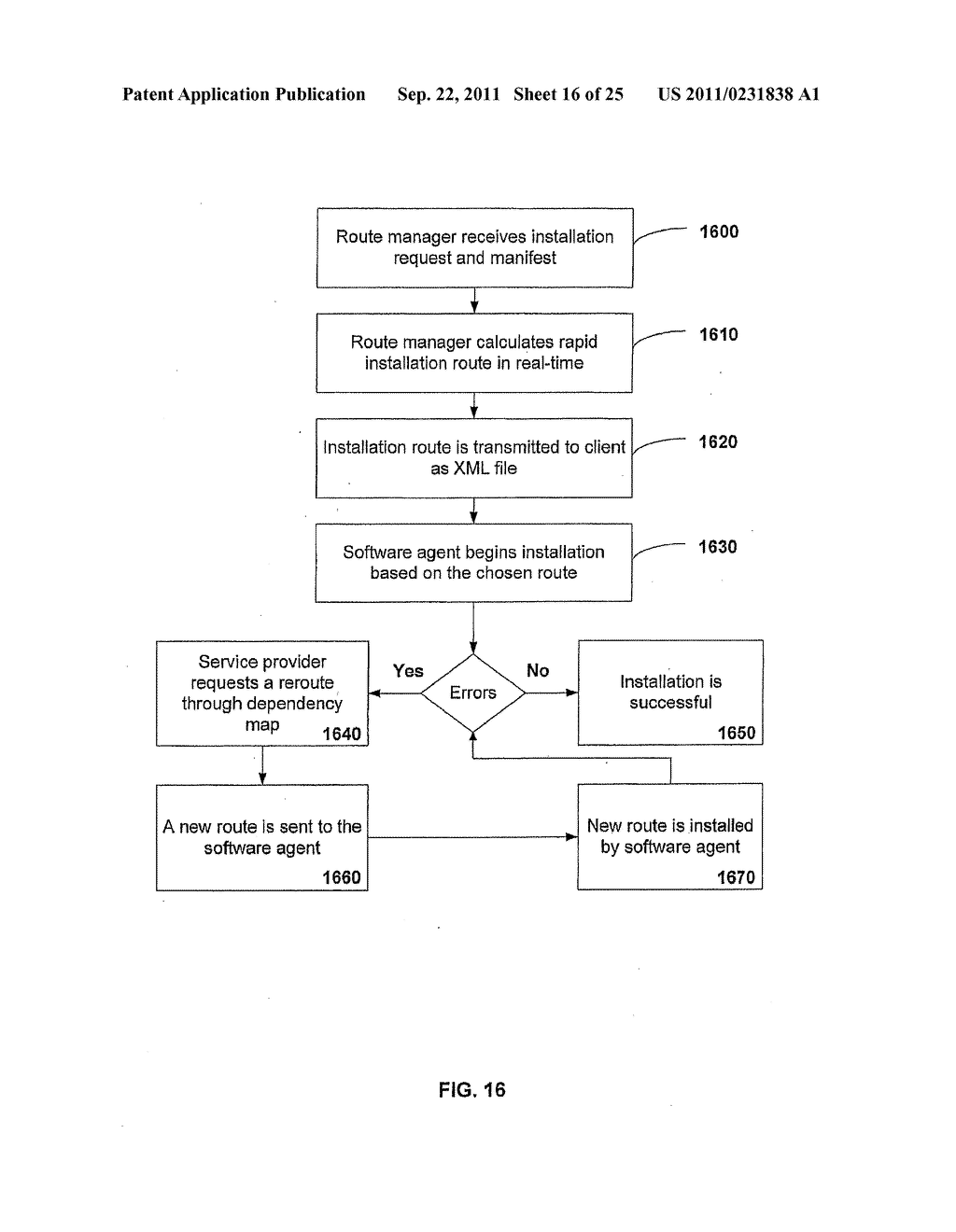 APPARATUS AND METHOD FOR INSTALLING SOFTWARE USING A SOFTWARE DEPENDENCY     MAP - diagram, schematic, and image 17
