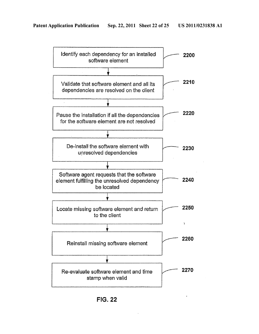 APPARATUS AND METHOD FOR INSTALLING SOFTWARE USING A SOFTWARE DEPENDENCY     MAP - diagram, schematic, and image 23