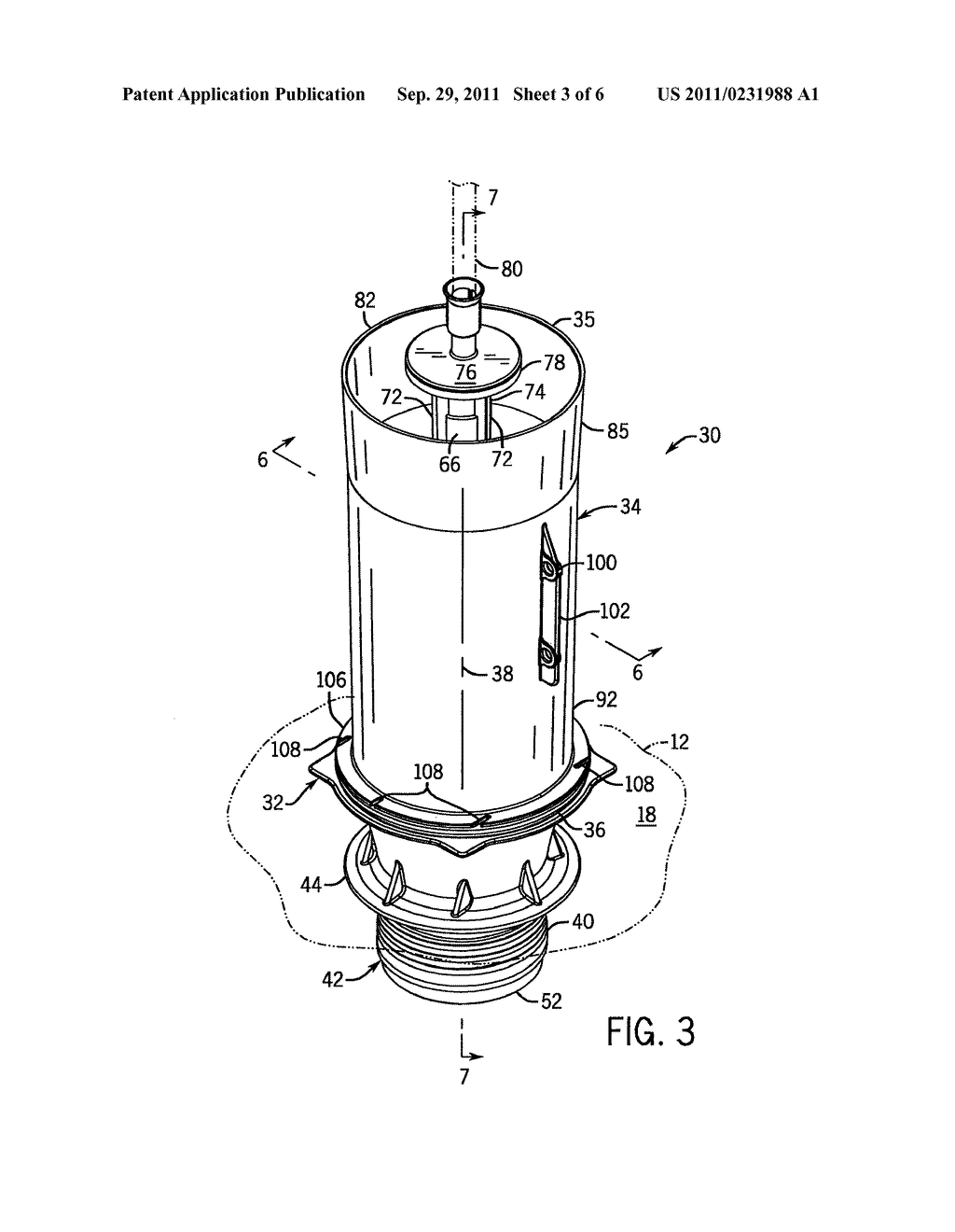 Toilet Flush Valve With Reducing Cross Section Seat
