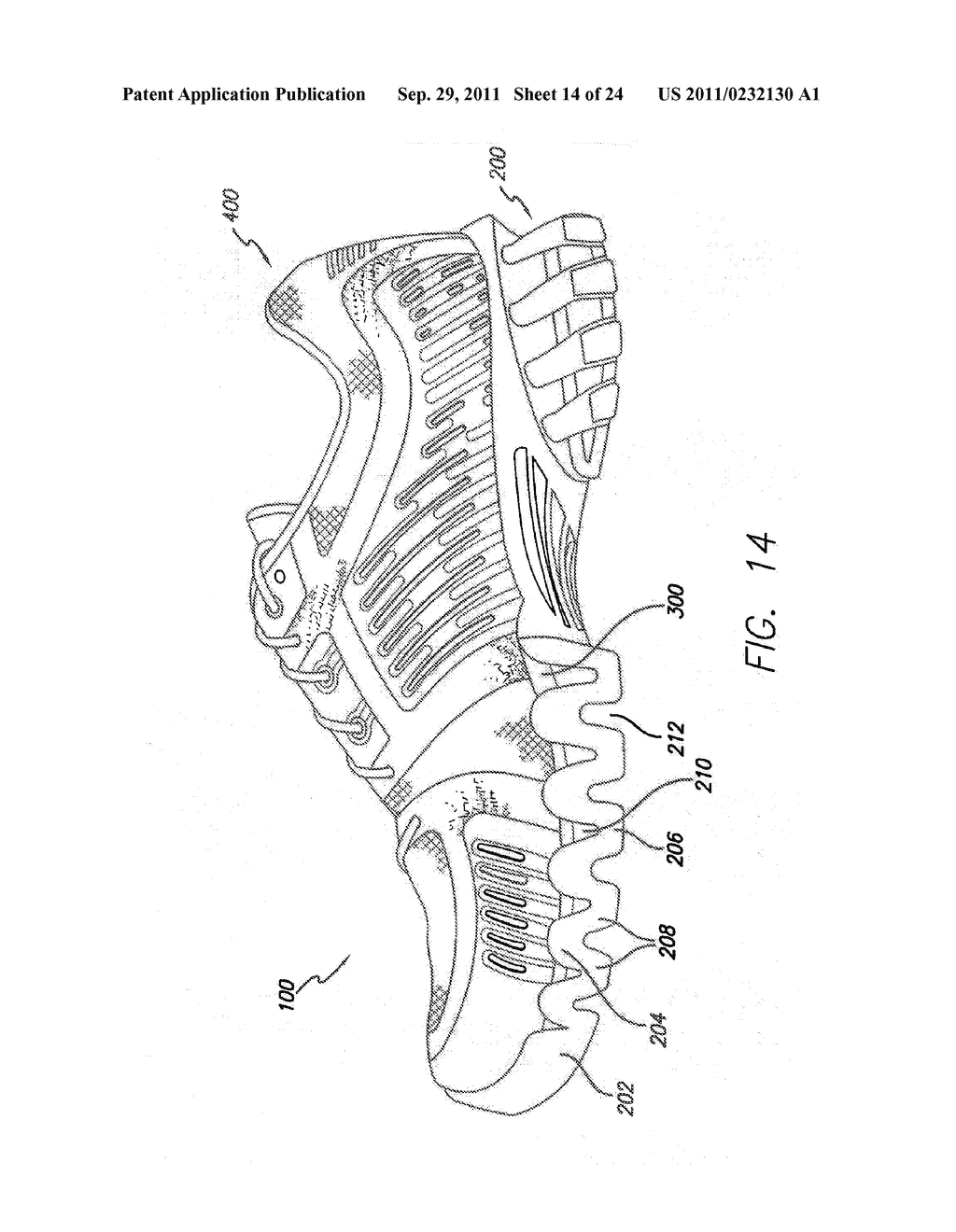 Article of Footwear with Support Element - diagram, schematic, and image 15