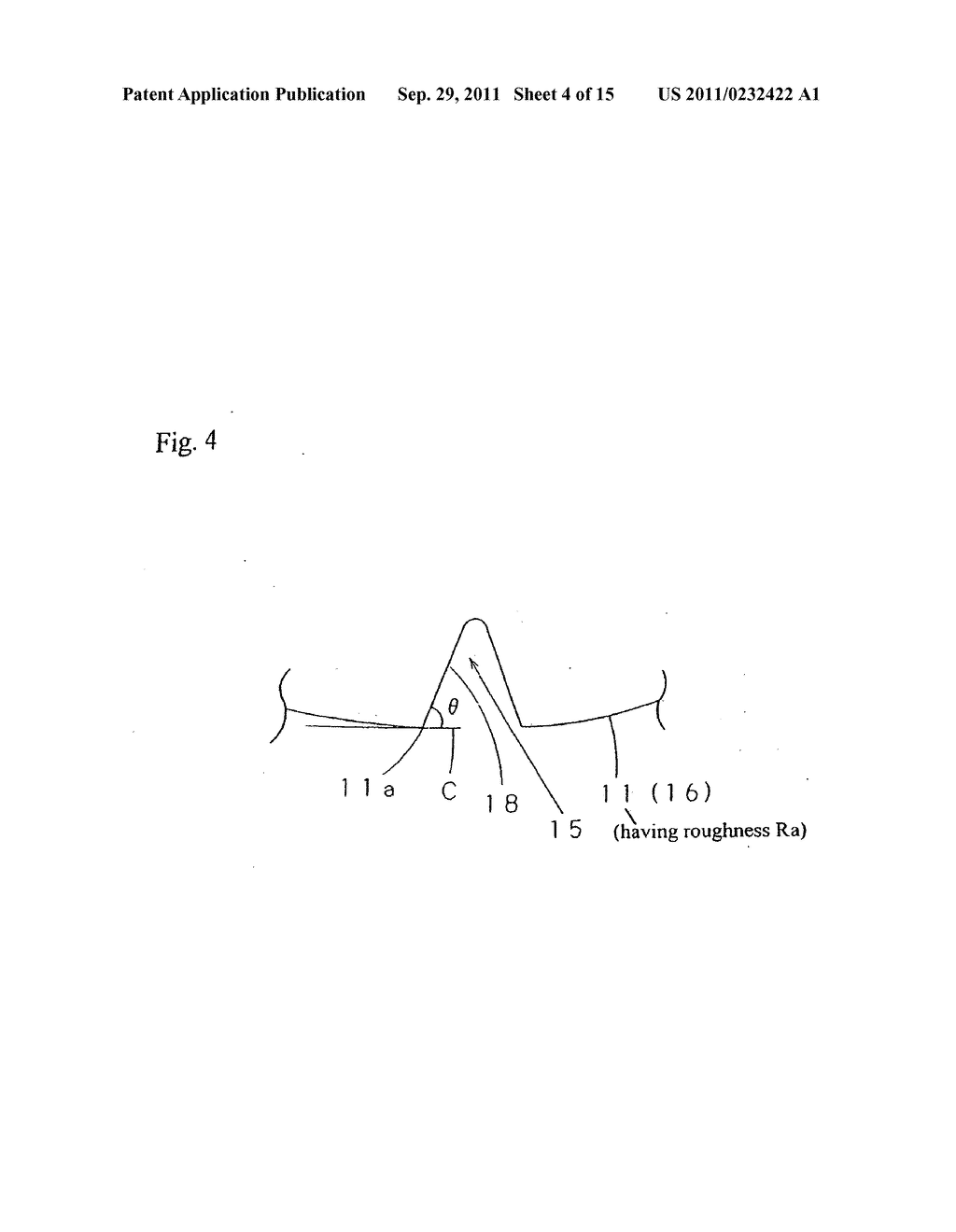 Scribing wheel for brittle material and manufacturing method for same, as     well as scribing method, scribing apparatus and scribing tool using the     same - diagram, schematic, and image 05