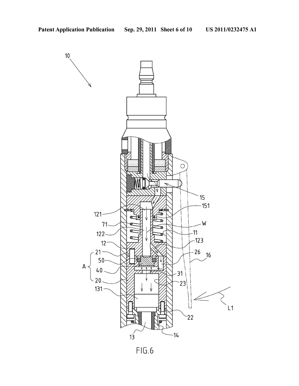 INTEGRATED CYLINDER AND REVERSING ASSEMBLY MODULE OF A RECIPROCATING     PNEUMATIC TOOL - diagram, schematic, and image 07