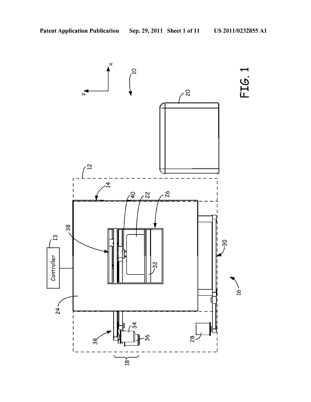 SYSTEM AND METHOD FOR BUILDING THREE-DIMENSIONAL OBJECTS WITH METAL-BASED     ALLOYS - diagram, schematic, and image 02