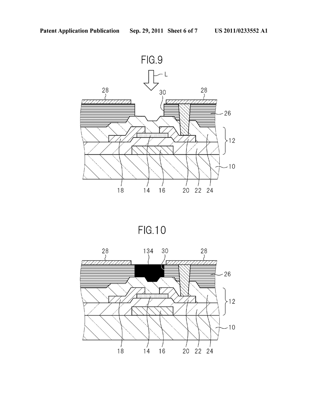 TFT BOARD FOR LIQUID CRYSTAL DISPLAY DEVICE AND MANUFACTURING METHOD FOR     LIQUID CRYSTAL DISPLAY DEVICE - diagram, schematic, and image 07