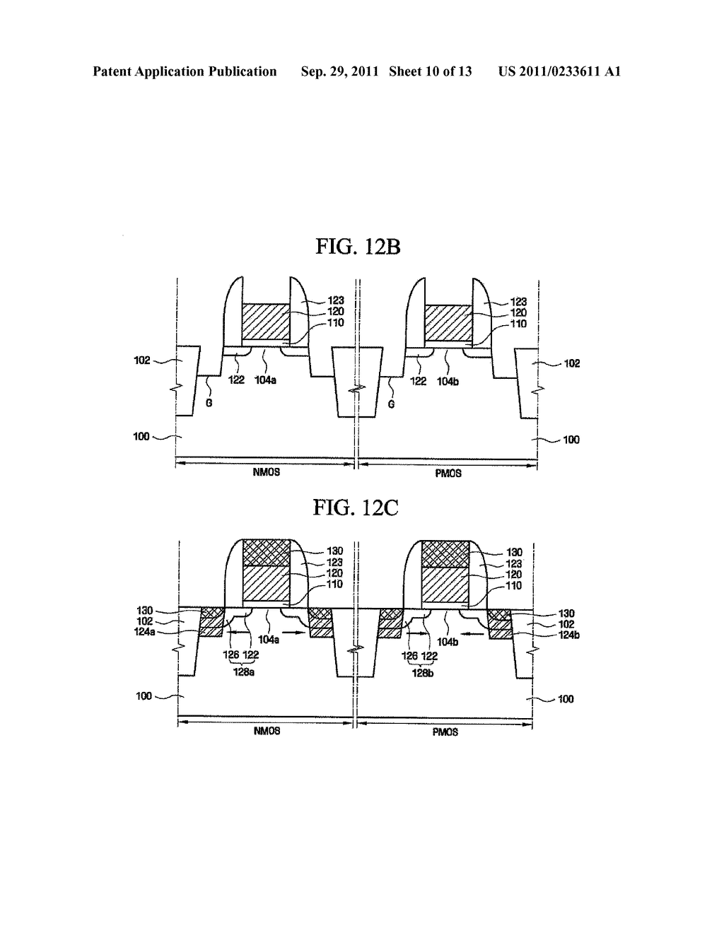 SEMICONDUCTOR DEVICE HAVING ANALOG TRANSISTOR WITH IMPROVED OPERATING AND     FLICKER NOISE CHARACTERISTICS AND METHOD OF MAKING SAME - diagram, schematic, and image 11