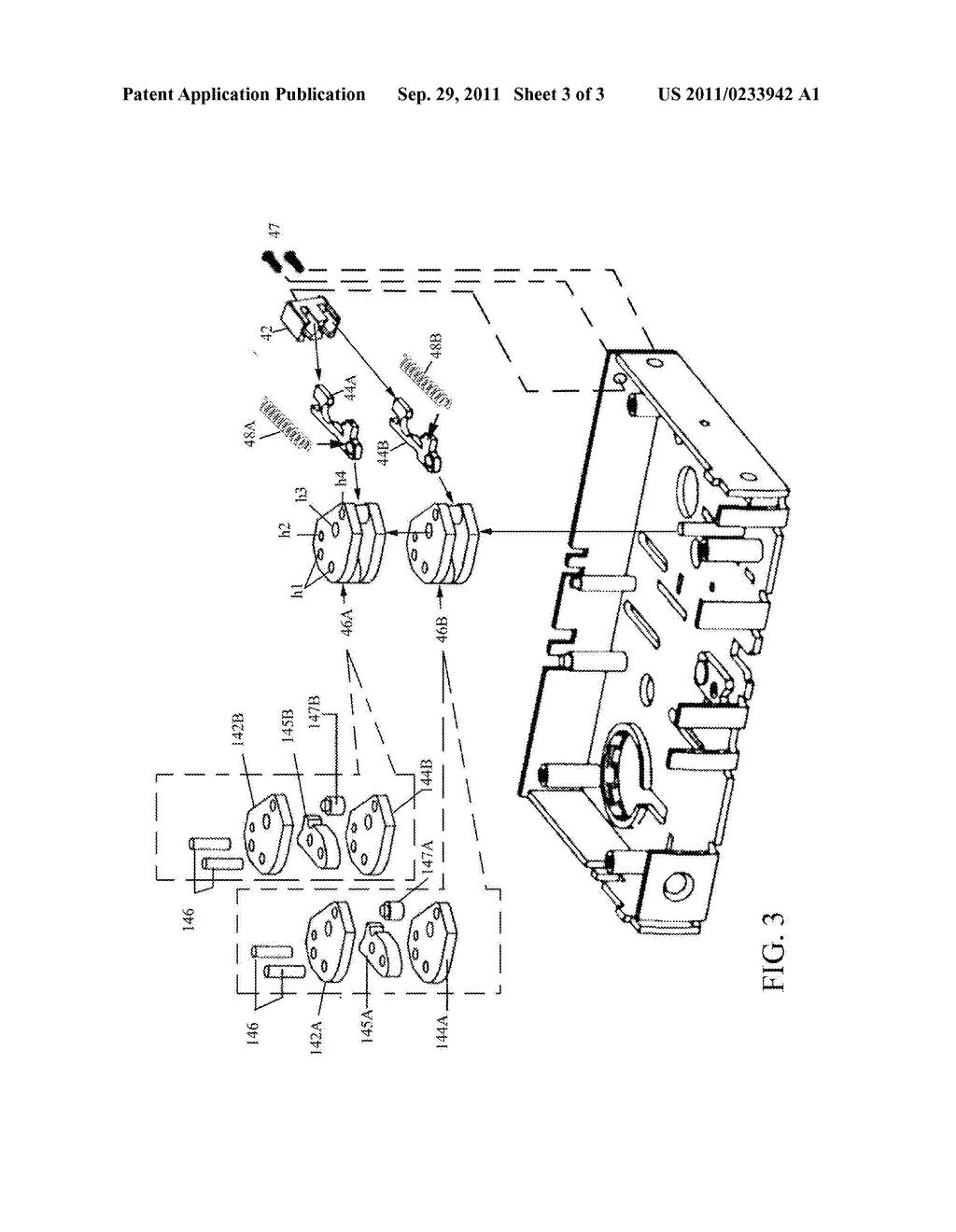 mortise lock with dual reverse lockout mechanism diagram rh patentsencyclopedia com inside mortise lock diagram inside mortise lock diagram