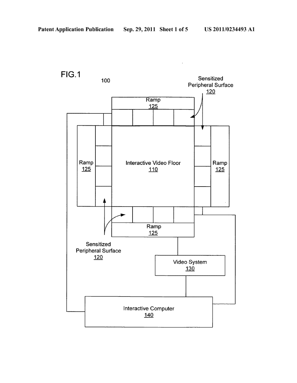 System and method for interacting with display floor using multi-touch     sensitive surround surfaces - diagram, schematic, and image 02