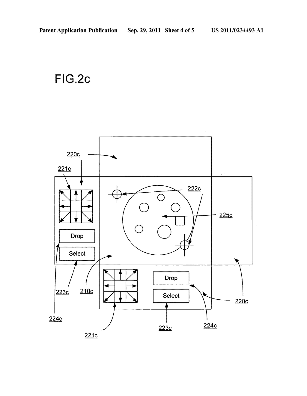 System and method for interacting with display floor using multi-touch     sensitive surround surfaces - diagram, schematic, and image 05