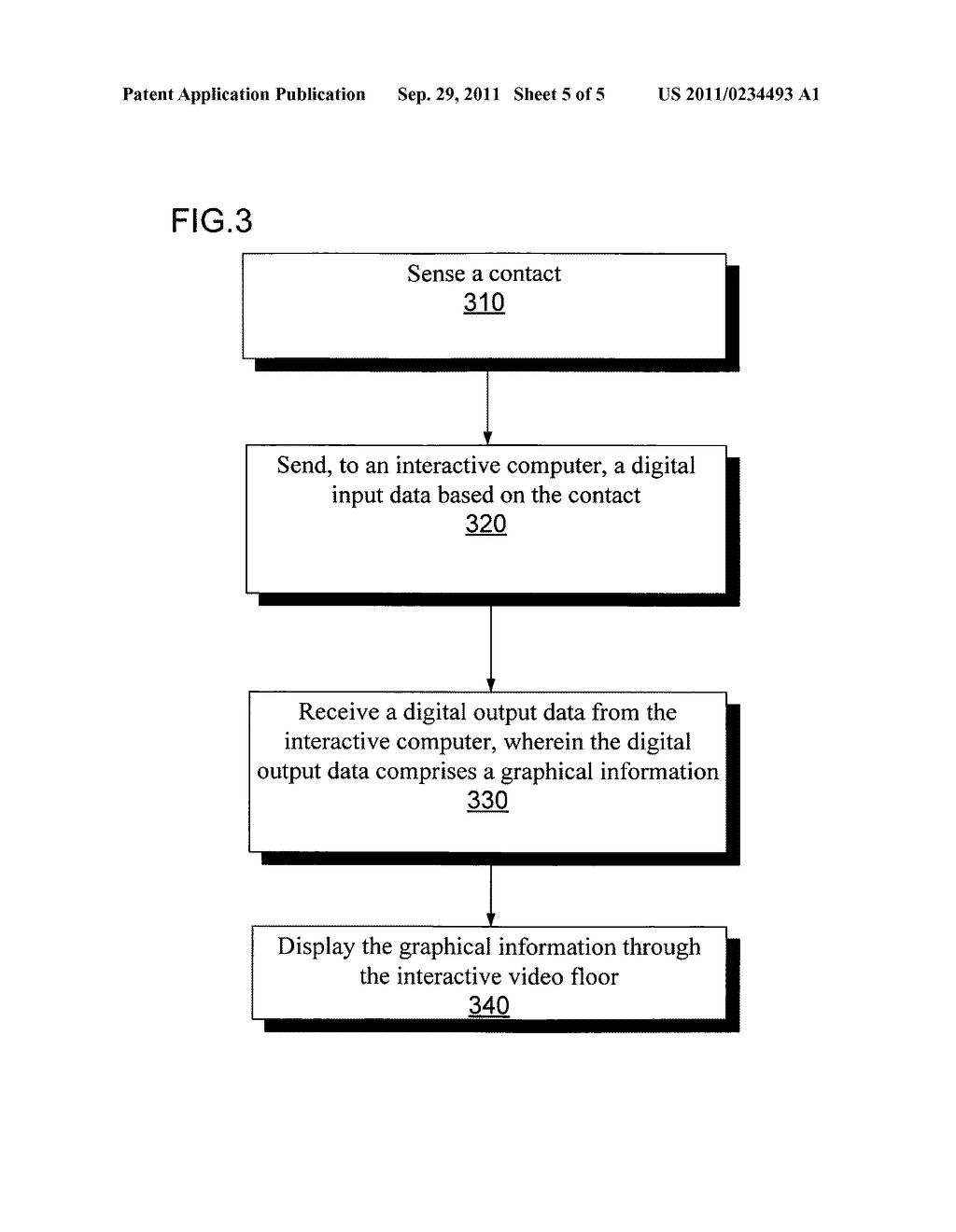 System and method for interacting with display floor using multi-touch     sensitive surround surfaces - diagram, schematic, and image 06