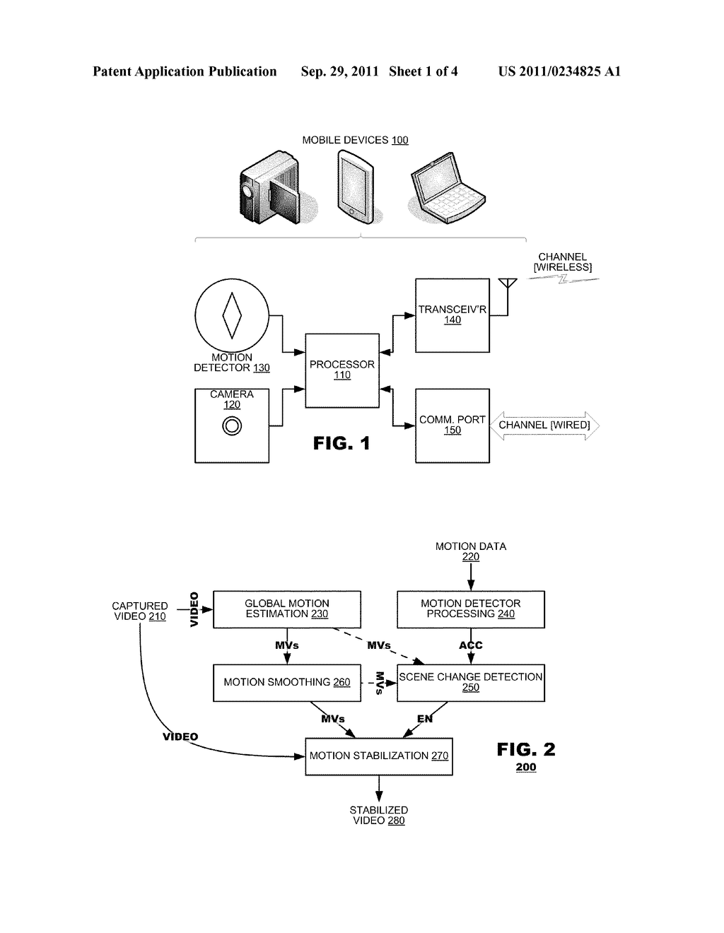 Accelerometer Gyro Facilitated Video Stabilization Diagram Schematic And Image 02