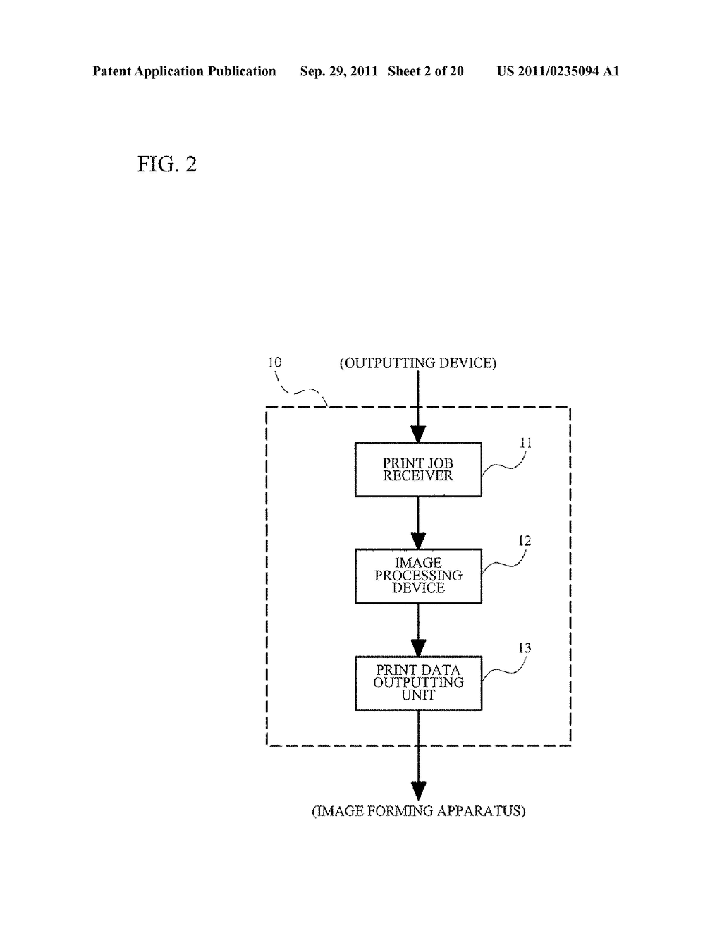 IMAGE PROCESSING APPARATUS, IMAGE FORMING SYSTEM AND NON-TRANSITORY     COMPUTER READABLE MEDIUM - diagram, schematic, and image 03