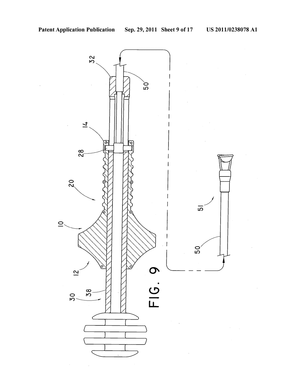 DEVICE AND METHOD FOR POSITIONING AN IMPLANTED STRUCTURE TO FACILITATE     REMOVAL - diagram, schematic, and image 10