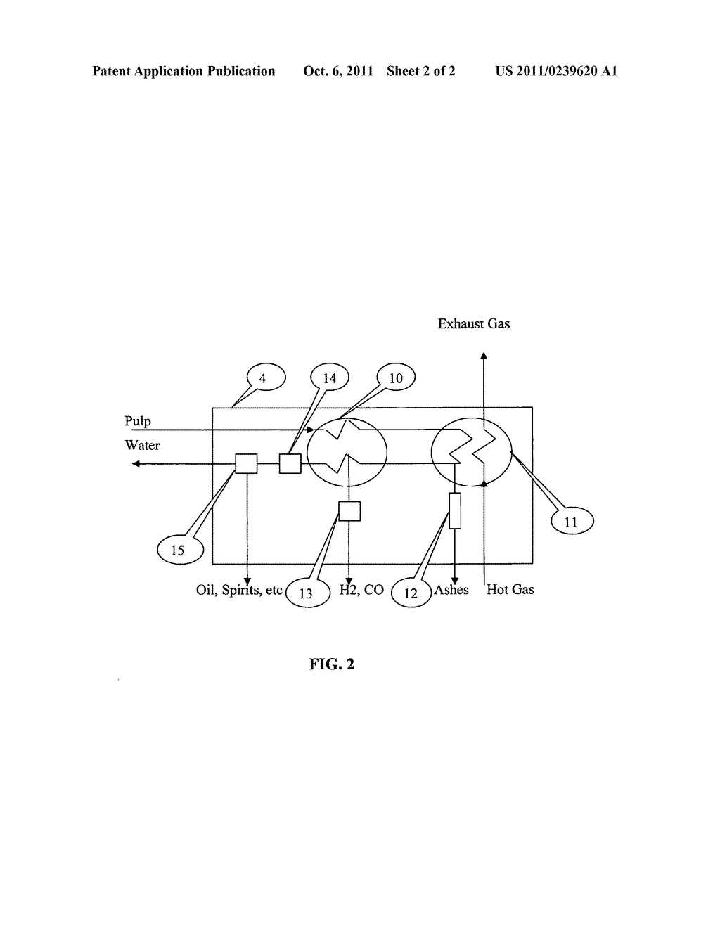 METHOD FOR PROCESSING ORGANIC WASTE AND A DEVICE FOR CARRYING OUT SAID     METHOD - diagram, schematic, and image 03