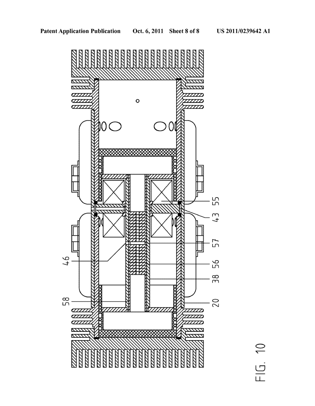 Double-Acting, Two-Stroke HCCI Compound Free-Piston Rotating-Shaft Engine -  diagram, schematic, and image 09