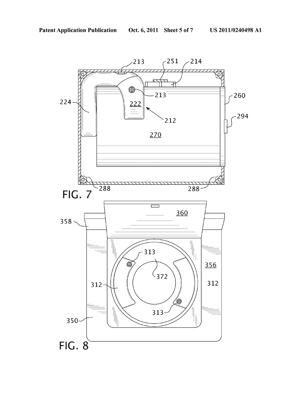 Washing Machine with Securing Apparatus for Transport - diagram, schematic, and image 06