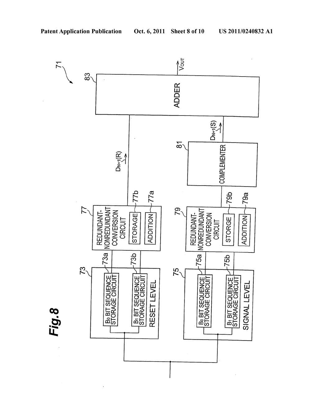 CYCLIC A/D CONVERTER, IMAGE SENSOR DEVICE, AND METHOD FOR GENERATING     DIGITAL SIGNAL FROM ANALOG SIGNAL - diagram, schematic, and image 09