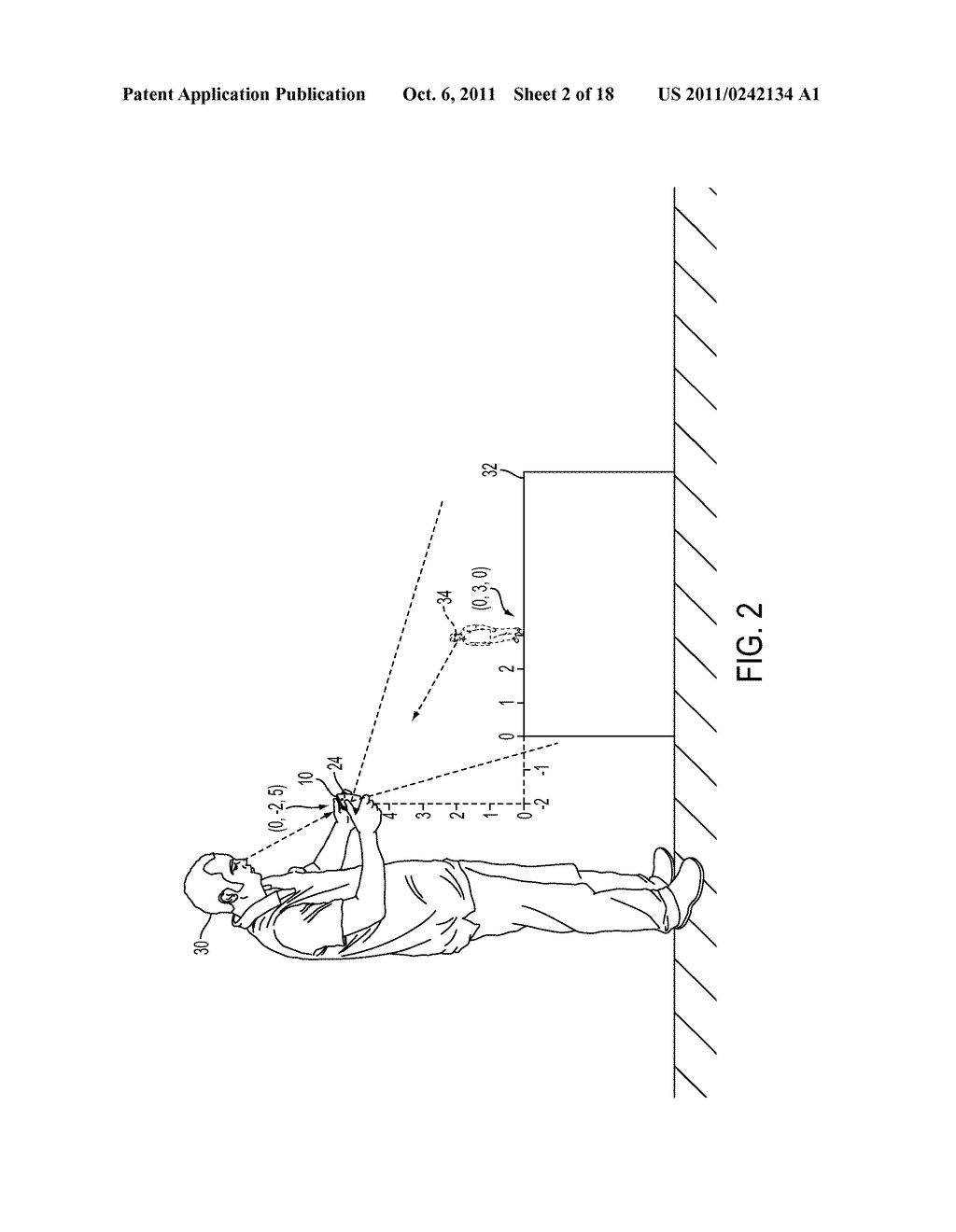 METHOD FOR AN AUGMENTED REALITY CHARACTER TO MAINTAIN AND EXHIBIT     AWARENESS OF AN OBSERVER - diagram, schematic, and image 03