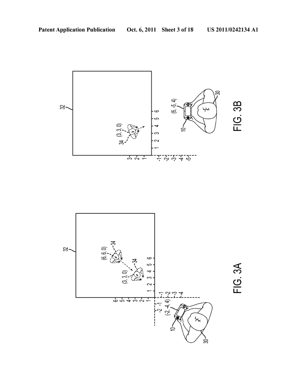 METHOD FOR AN AUGMENTED REALITY CHARACTER TO MAINTAIN AND EXHIBIT     AWARENESS OF AN OBSERVER - diagram, schematic, and image 04