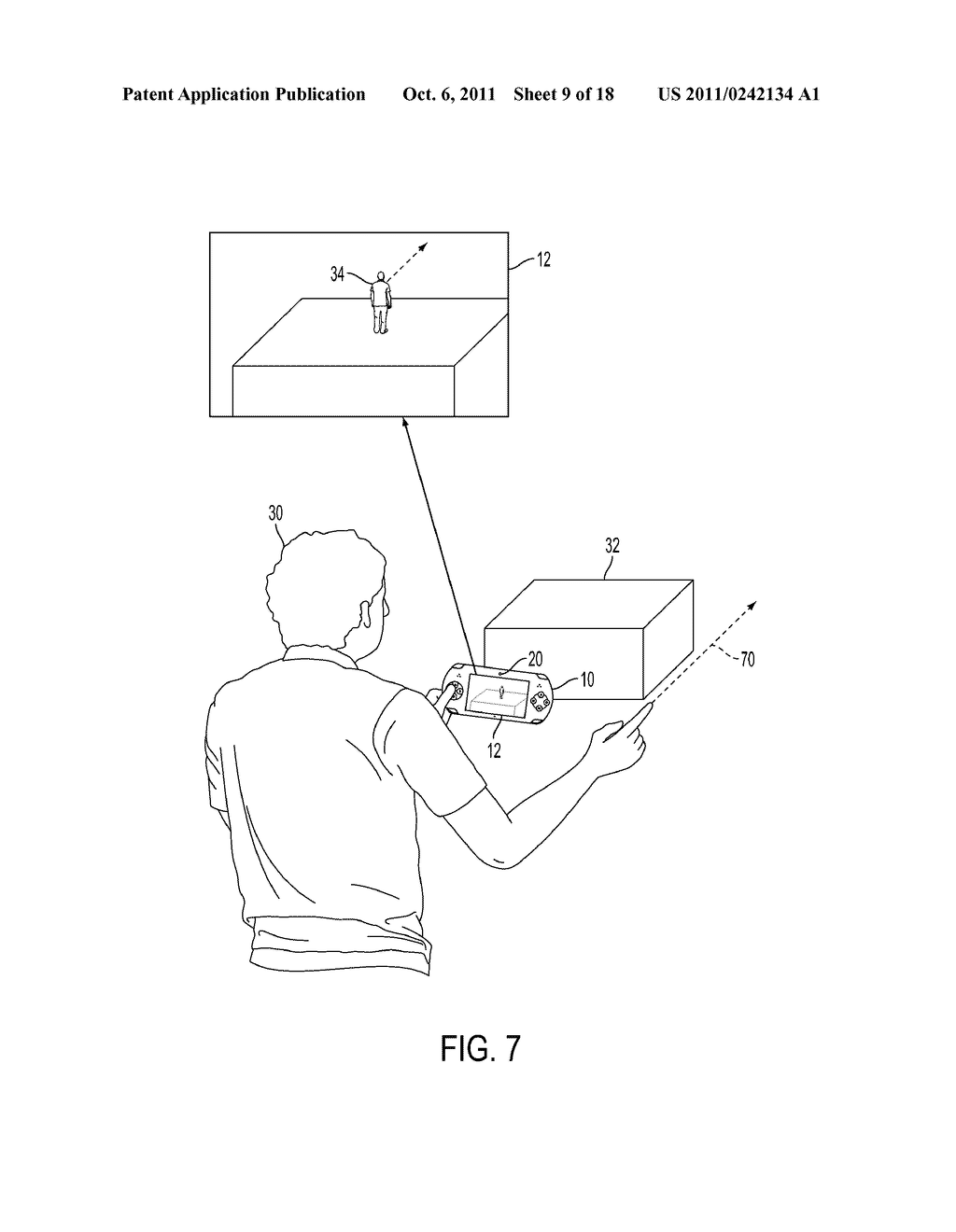 METHOD FOR AN AUGMENTED REALITY CHARACTER TO MAINTAIN AND EXHIBIT     AWARENESS OF AN OBSERVER - diagram, schematic, and image 10