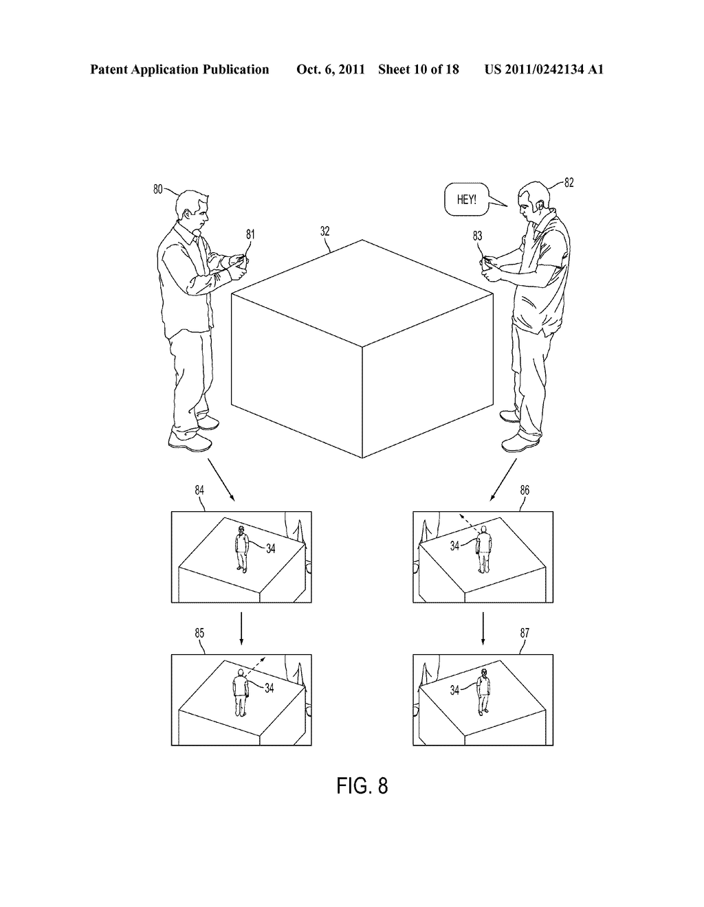 METHOD FOR AN AUGMENTED REALITY CHARACTER TO MAINTAIN AND EXHIBIT     AWARENESS OF AN OBSERVER - diagram, schematic, and image 11
