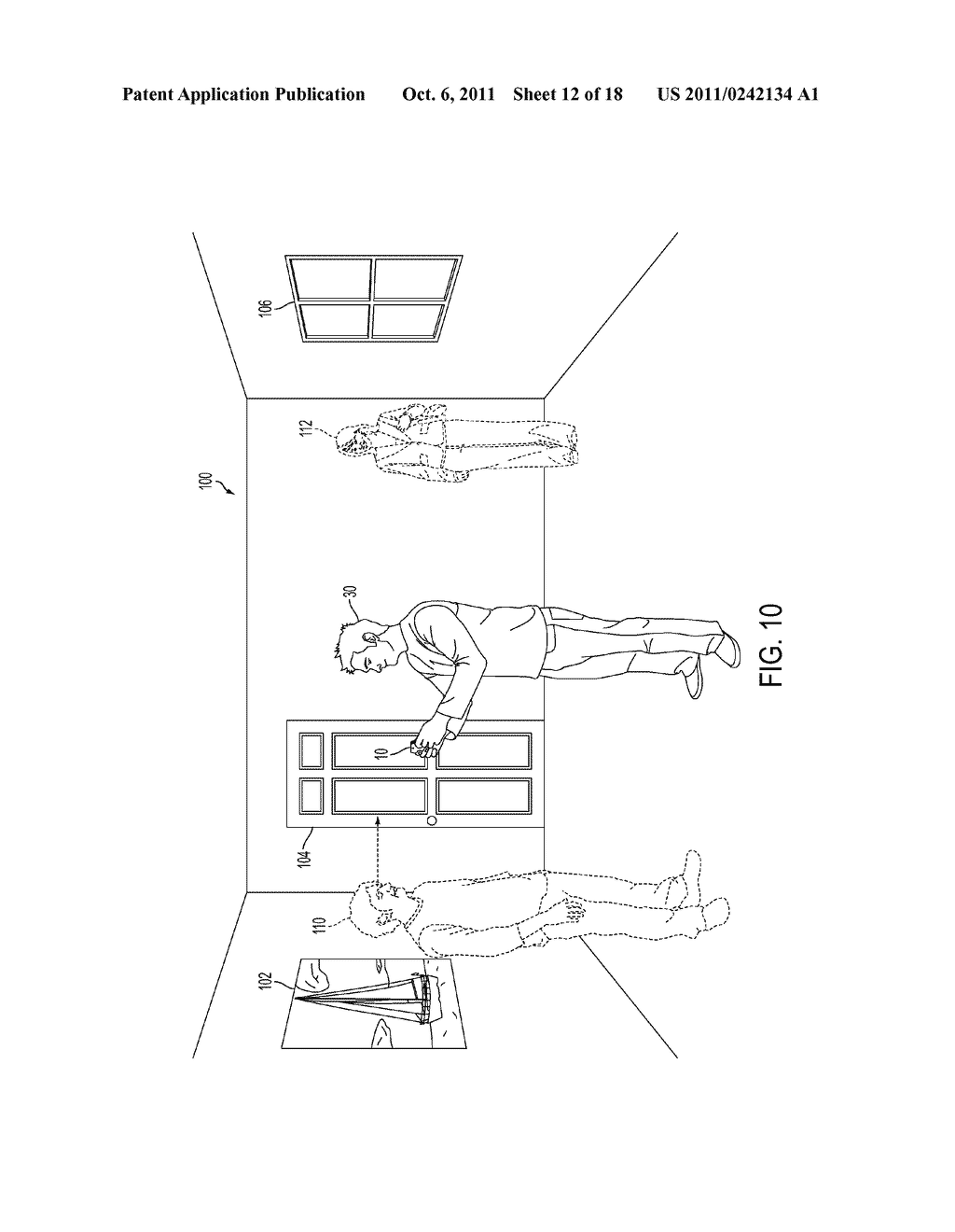 METHOD FOR AN AUGMENTED REALITY CHARACTER TO MAINTAIN AND EXHIBIT     AWARENESS OF AN OBSERVER - diagram, schematic, and image 13