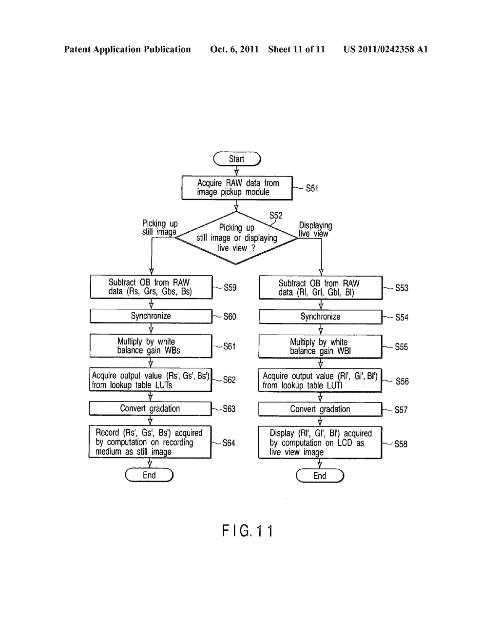 ELECTRONIC IMAGE PICKUP APPARATUS AND ELECTRONIC IMAGE PICKUP METHOD - diagram, schematic, and image 12