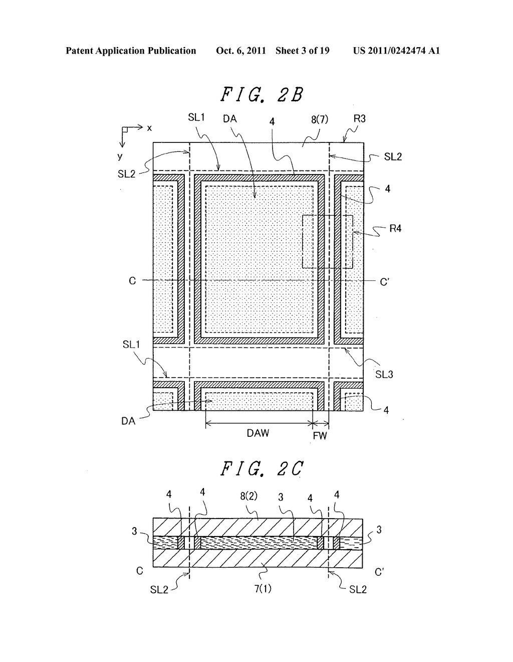 Display device with sufficient adhesive strength for sealing material - diagram, schematic, and image 04
