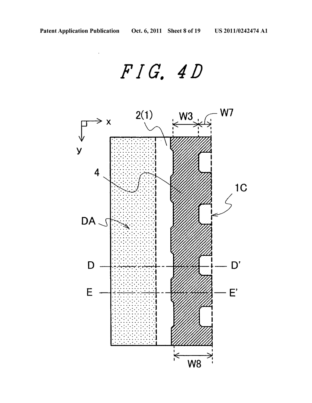 Display device with sufficient adhesive strength for sealing material - diagram, schematic, and image 09