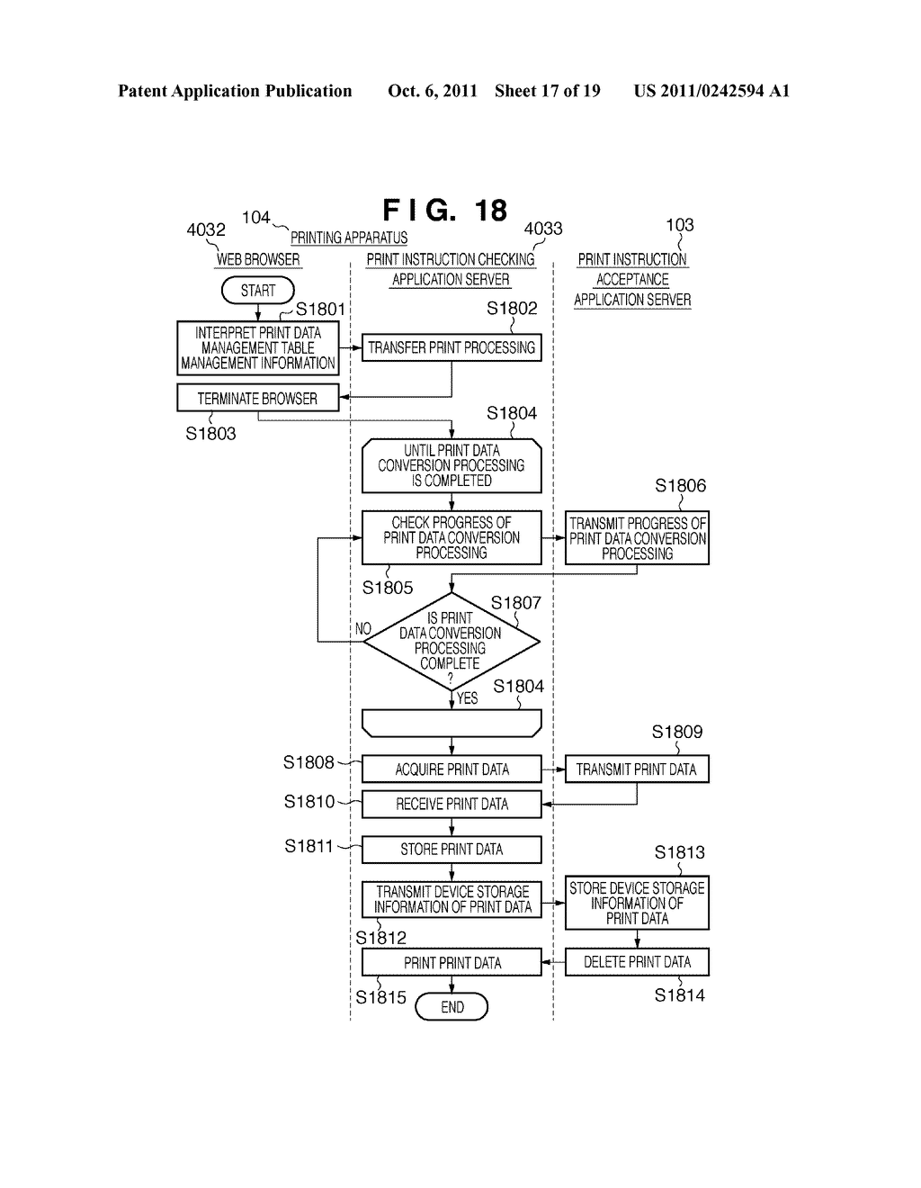 SERVER APPARATUS, TERMINAL APPARATUS, AND PRINTING SYSTEM AND DATA     CONVERSION METHOD THEREOF - diagram, schematic, and image 18
