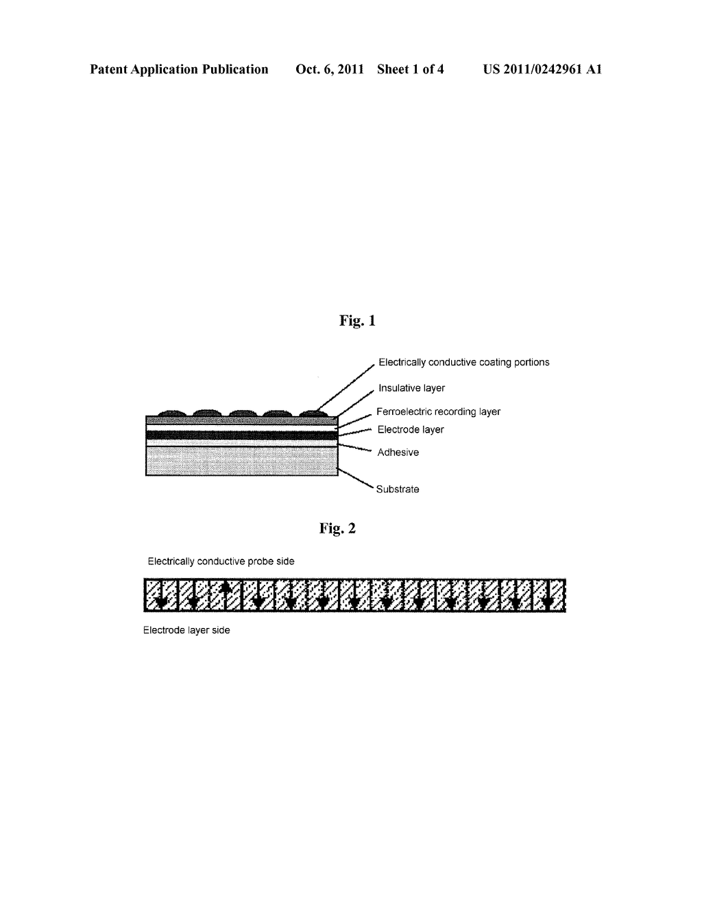 FERROELECTRIC RECORDING MEDIUM AND METHOD OF MANUFACTURING THE SAME,     INFORMATION PROCESSING DEVICE, AND METHOD OF PROCESSING INFORMATION - diagram, schematic, and image 02