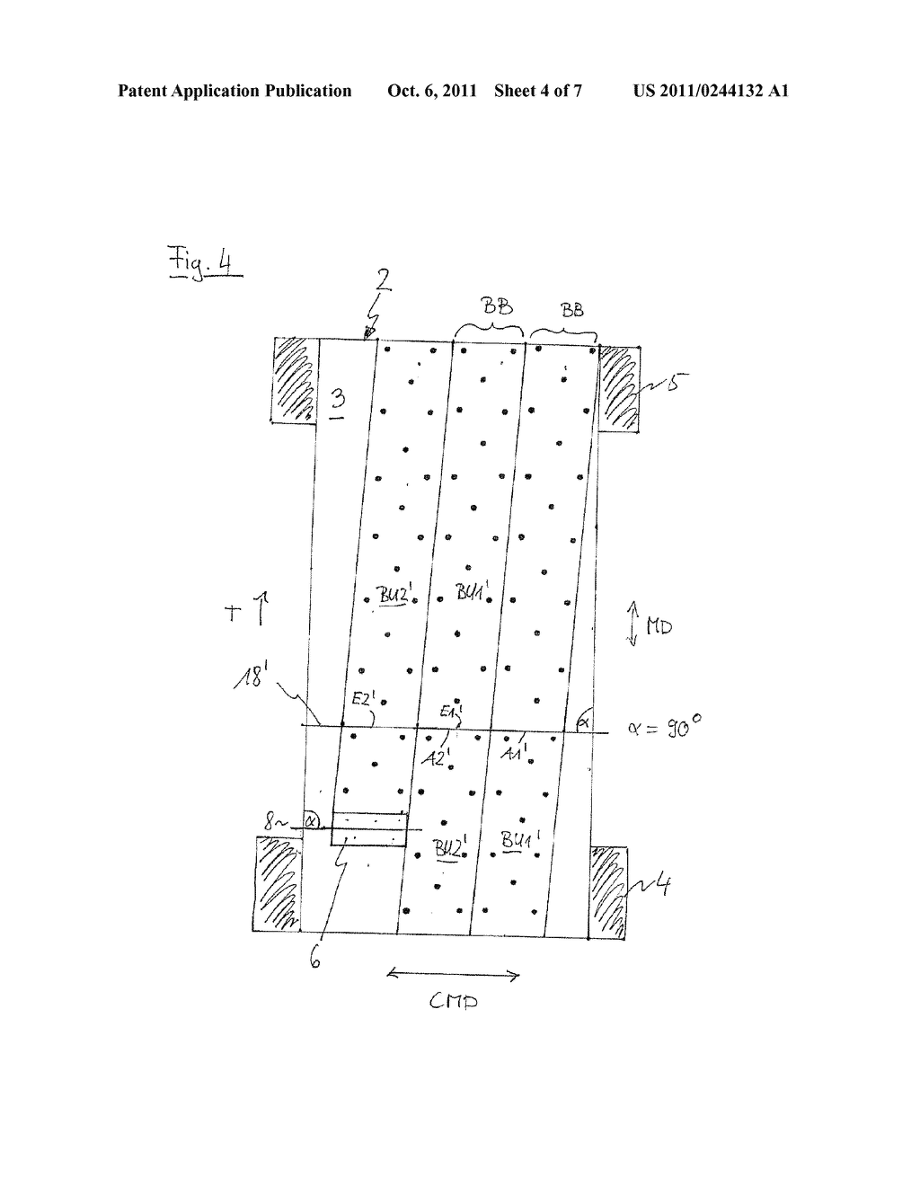METHOD FOR PRODUCING A PATTERN ON AN ENDLESS STRIP - diagram, schematic, and image 05
