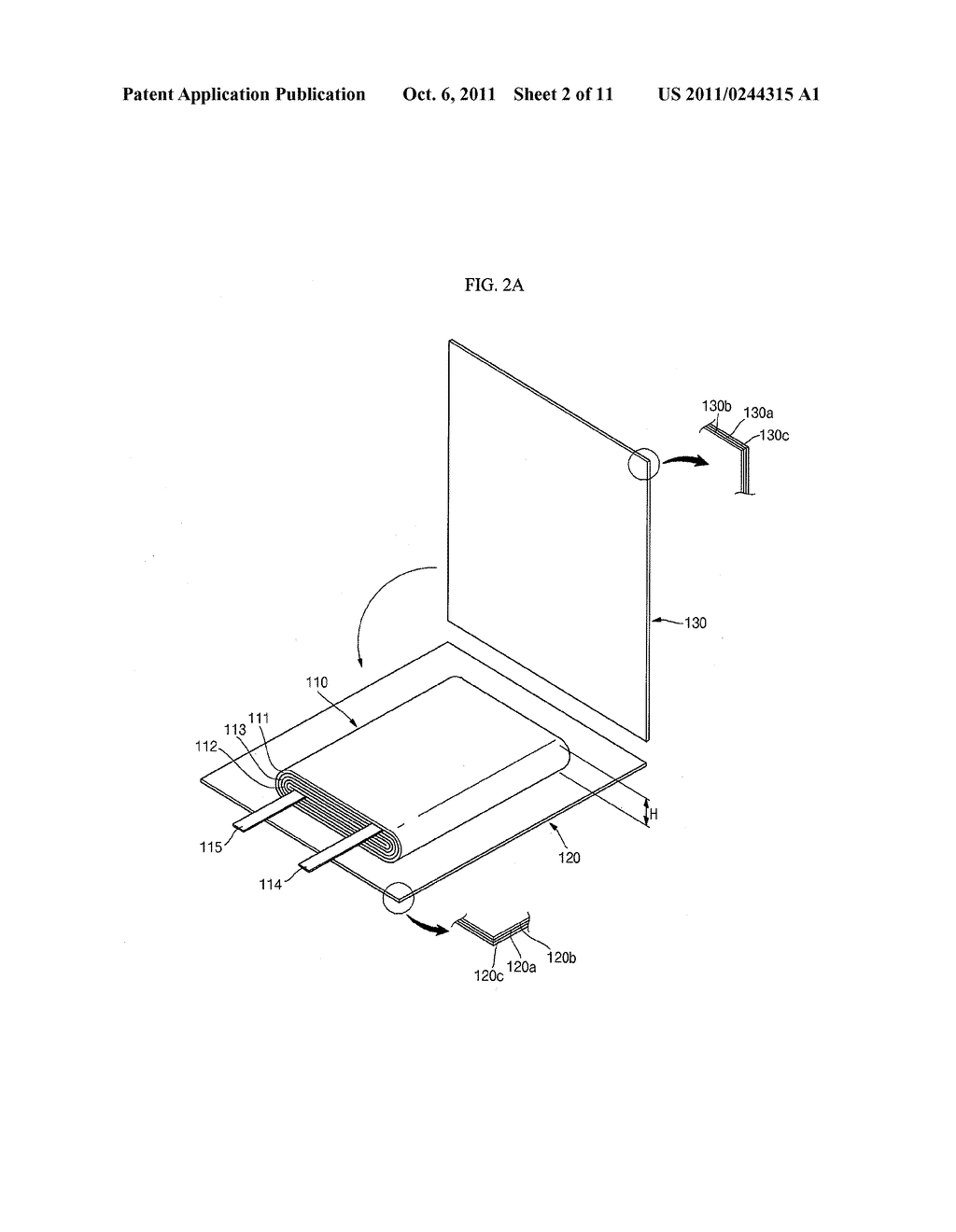 POUCH TYPE SECONDARY BATTERY AND THE FABRICATION METHOD THEREOF - diagram, schematic, and image 03