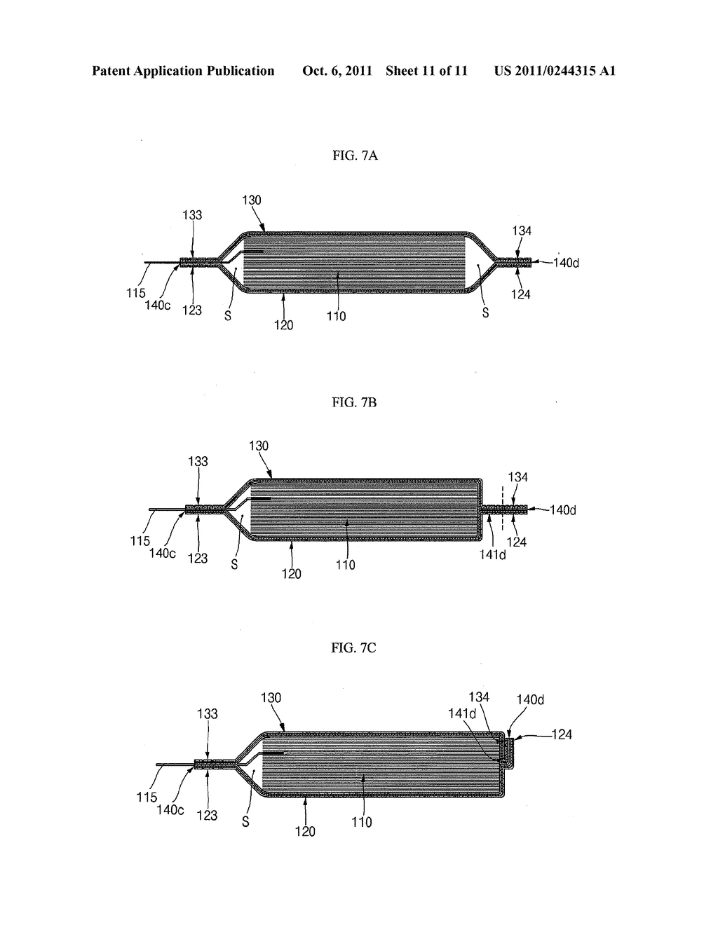 POUCH TYPE SECONDARY BATTERY AND THE FABRICATION METHOD THEREOF - diagram, schematic, and image 12
