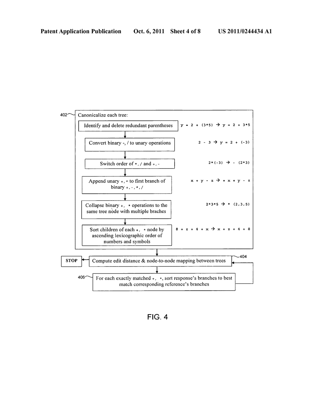 System and Method of Analyzing Freeform Mathematical Responses - diagram, schematic, and image 05