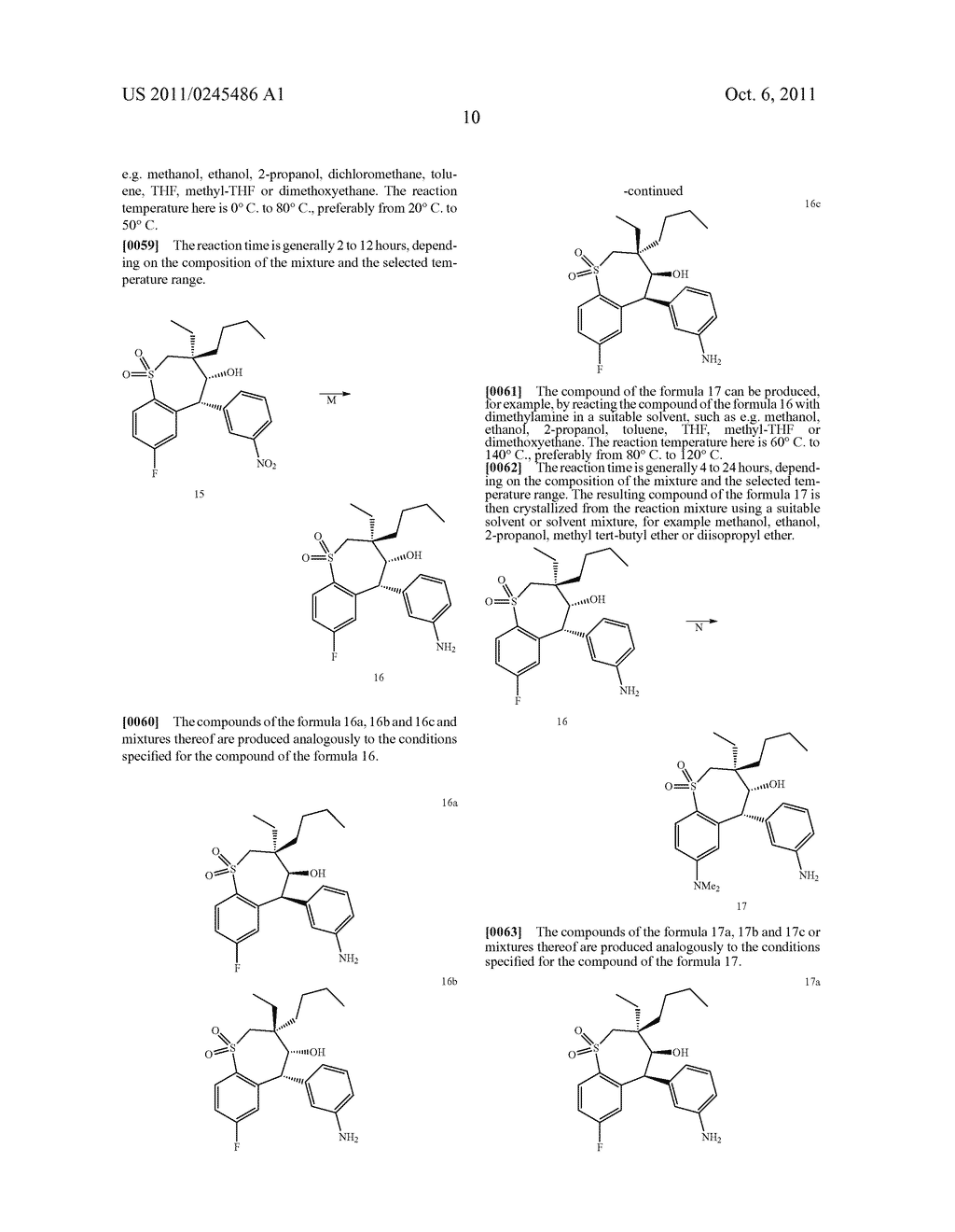 METHOD FOR THE PRODUCTION OF 1,4-BENZOTHIEPIN-1,1-DIOXIDE DERIVATIVES - diagram, schematic, and image 11